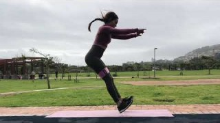 Forward Jumps with Resistance Band – Booty Band Exercises – Zaksy.com
