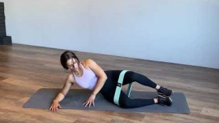 Side-Lying Clam (Right) with Resistance Band – Booty Band Exercises – Zaksy.com