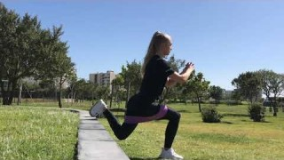 Split Squat with Resistance Band – Booty Band Exercises – Zaksy.com