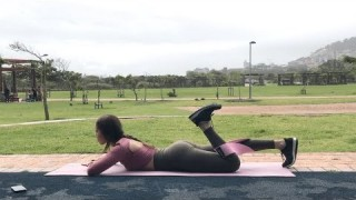 Hamstring Curls (Left) with Resistance Band – Booty Band Exercises – Zaksy.com