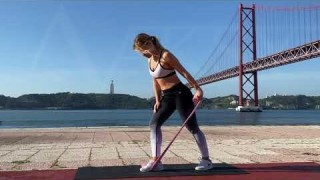 Bent-Over Tricep Extensions with Long Resistance Body Bands – Zaksy.com