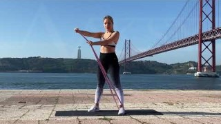 Standing Core Twists with Long Resistance Body Bands – Zaksy.com