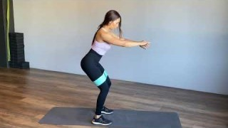 Squats with Resistance Band – Booty Band Exercises – Zaksy.com