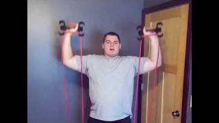 Resistance Band Standing Overhead Press